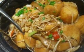 金针菇豆腐煲的做法教程
