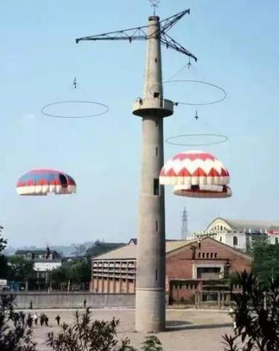 重庆跳伞塔老照片 重庆跳伞塔现状