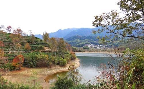 石潭 木梨硔 塔川风景照片