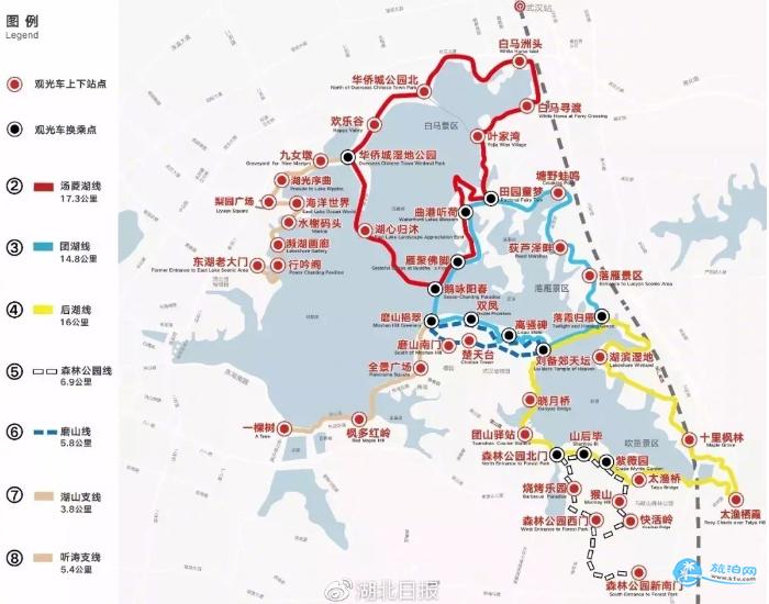 东湖绿道二期开放时间 东湖绿道二期路线图攻略
