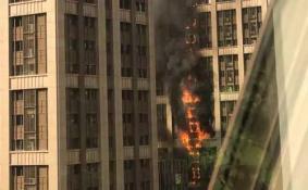 郑州写字楼突发大火是怎么回事 郑州写字楼大火完整版视频