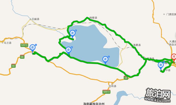 环青海湖自驾游路线图 青海甘肃旅游路线图2018