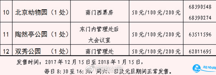 北京公园年票2018办理地点 2018公园年票何时办理价格+充值时间