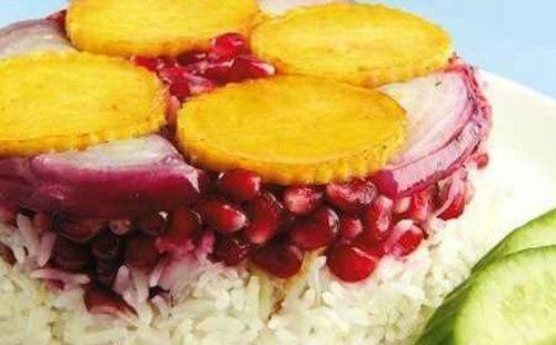 土库曼美食Baastermeh石榴鱼藏红花米饭做法教程