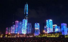 深圳福田灯光秀每天几点到几点