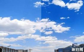 如何拍蓝天白云