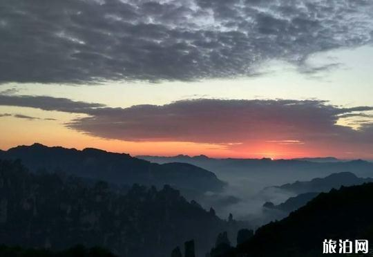 在张家界拍摄日出日落在哪个位置比较好