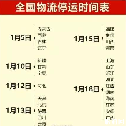 2019各省物流停运时间表 春节哪家快递不打烊 京东快递过年送货吗