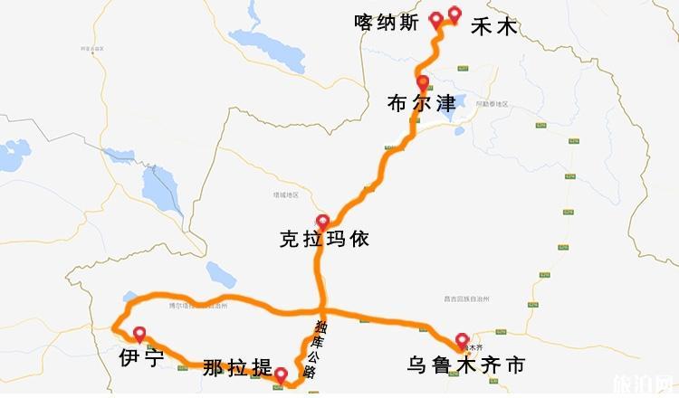 新疆自驾线路图 新疆租车攻略