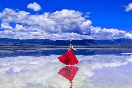 茶卡盐湖怎样拍照好看