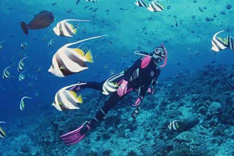 潜水怎么拍照好看