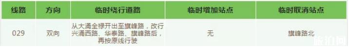 2019暑假中山公交线路调整时间+路段