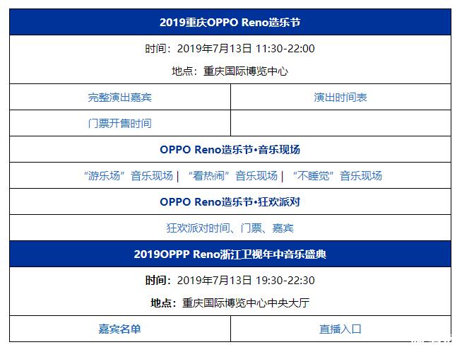 2019重庆OPPO Reno造乐节时间+地点+交通指南