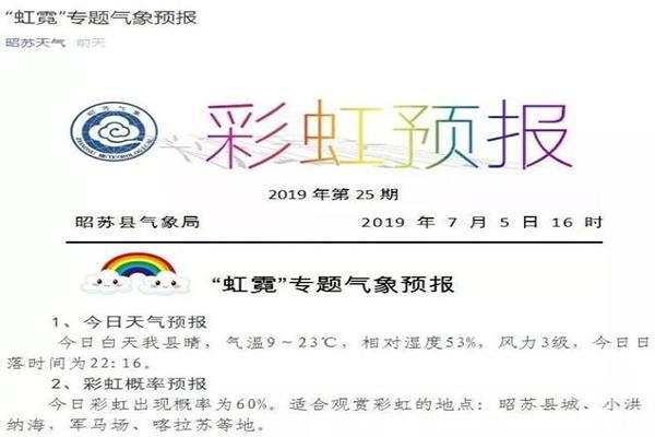 国内首家彩虹预报 怎么看