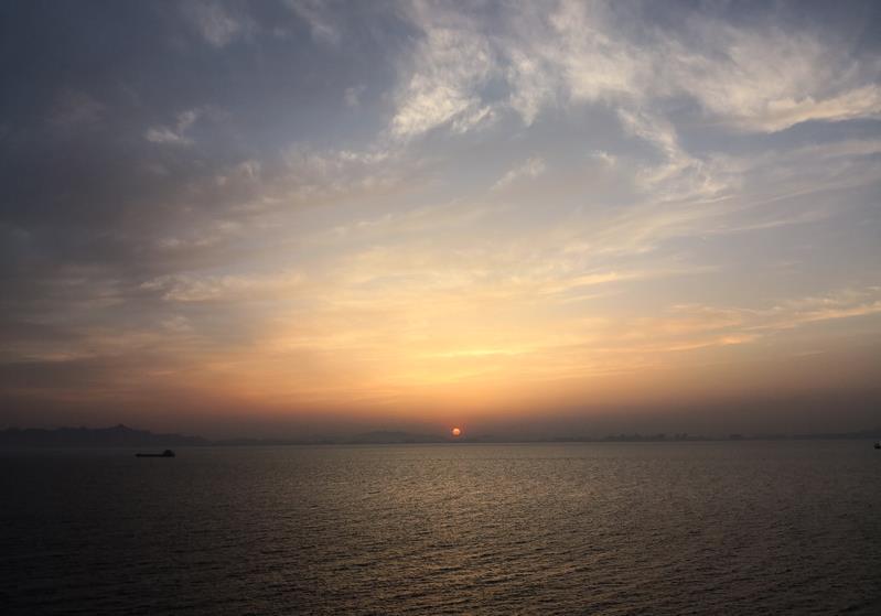 灵山岛日出照片灵山岛日出日落照片