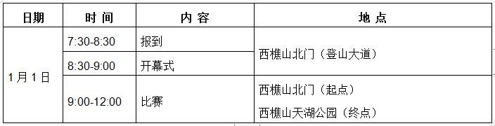 2019元旦西樵山登高健身大會報名 路線+比賽日程