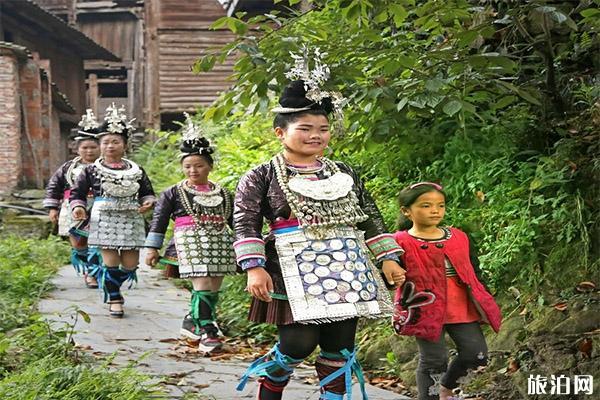 贵州黔东南苗族姑娘图片 地方习俗