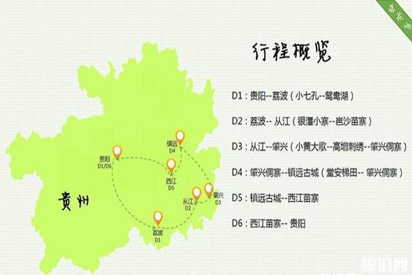 贵州旅游景点分布地图 贵州旅游行程怎么规划