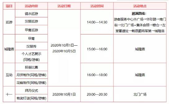 2020年十一国庆节深圳景点活动时间表汇总