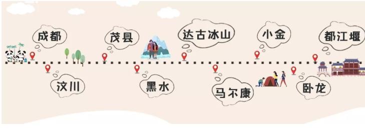 四川自駕游3天最佳路線-11月