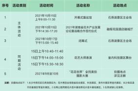 2021湖南省花博会门票-活动时间